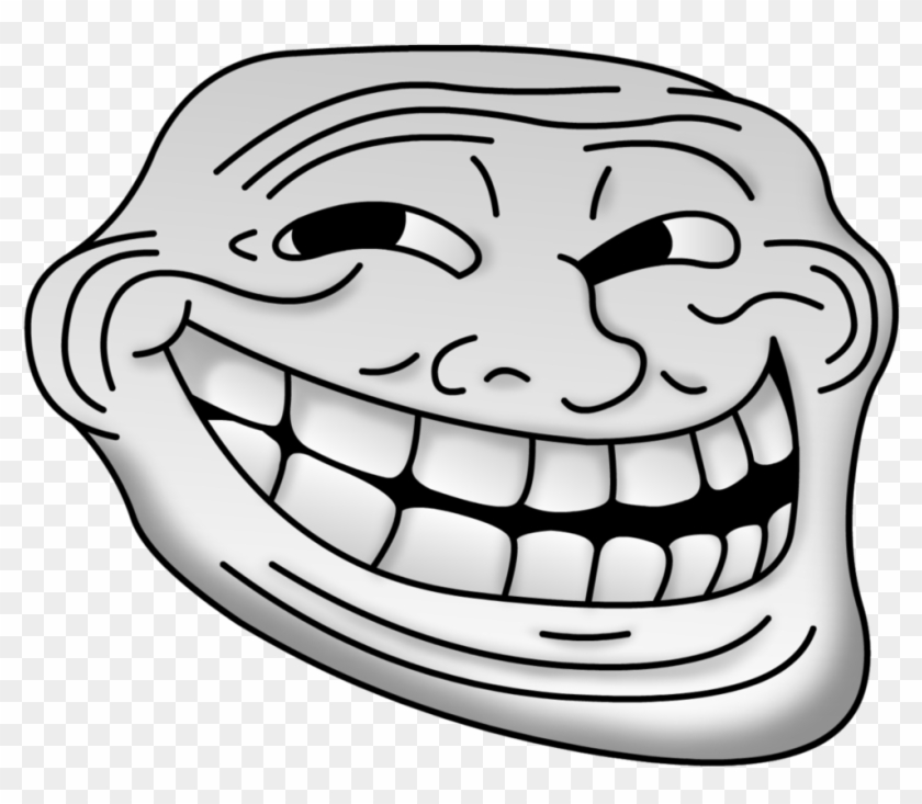 Filled Troll Face - Troll Face Png Clipart #13843