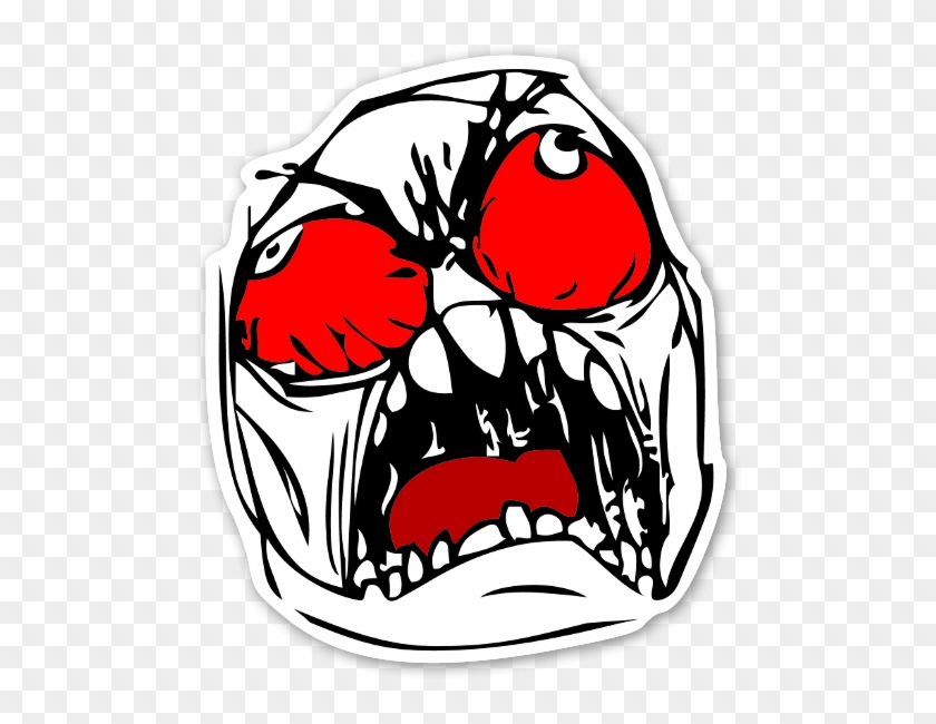 Memes Colorful Rage Face - Red Rage Face Png Clipart #13863