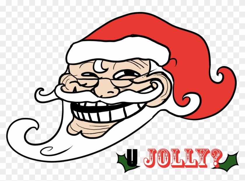 Meme Clipart Troll - Santa Claus Troll Face - Png Download #14859
