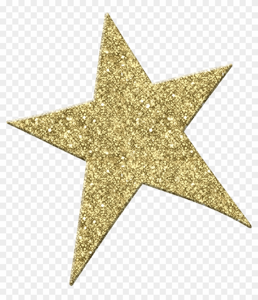 Gold Star Clipart Clipart - Gold Glitter Star Png Transparent Png #18458