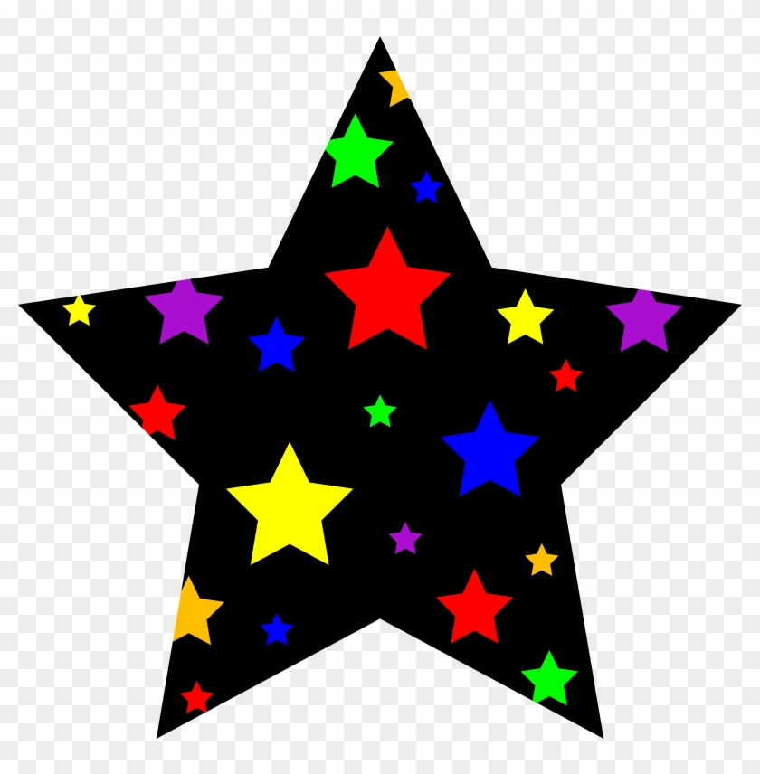 Colorful Starry Star Symbol - Star Clipart - Png Download #18518