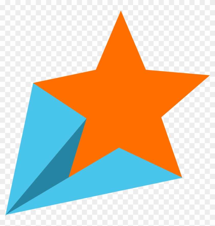 Shooting Star Clipart Png - Star Png Orange Transparent Png #18561