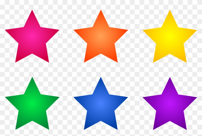Colorful Star Clipart Simple Png Images - Colored Stars Clipart Transparent Png #18578