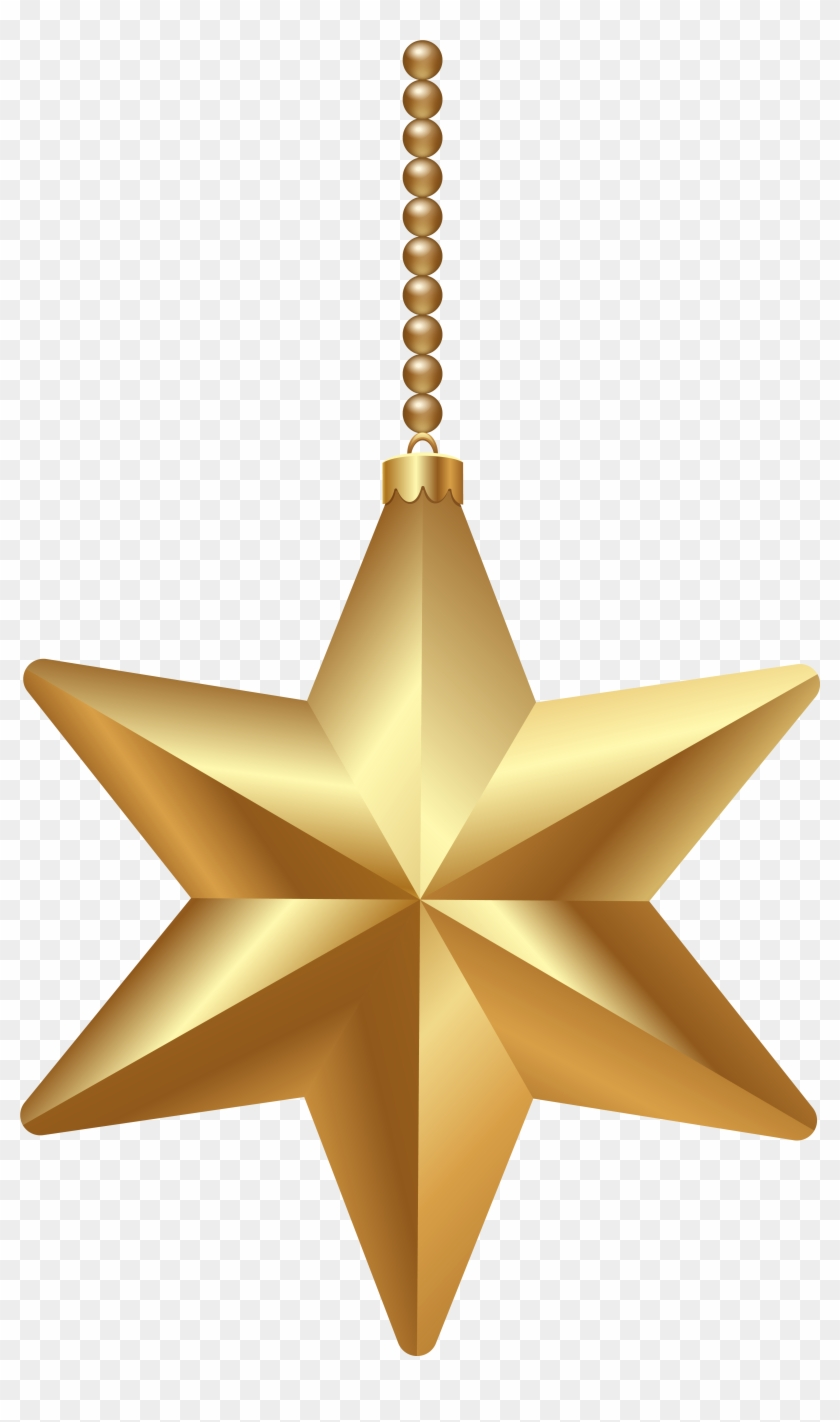 Gold Christmas Star Png Clipart Image - Christmas Star Png Transparent #18769