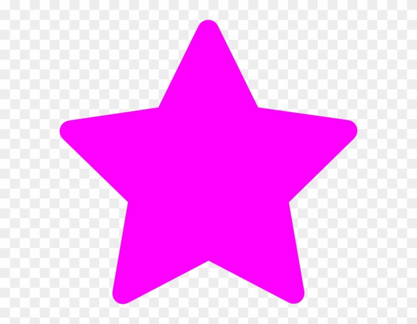 Star Pink Clip Art At - Light Pink Pink Star - Png Download #18854