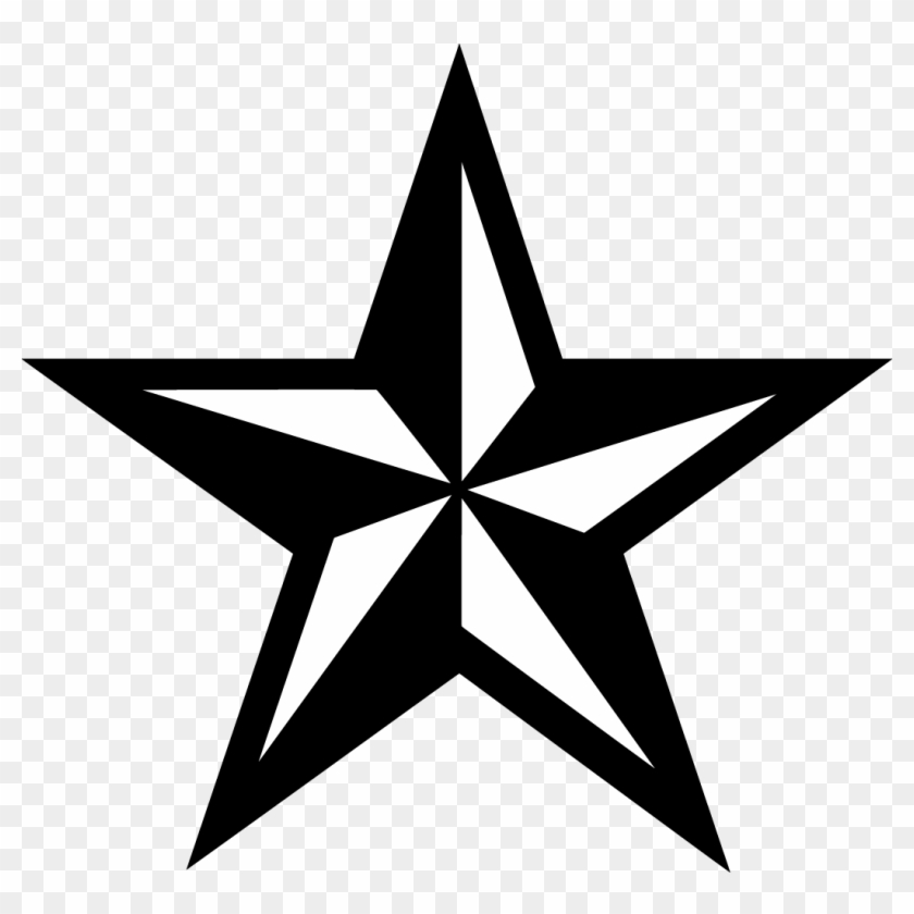 Black Star Clipart - Texas Star Png Transparent Png #19147