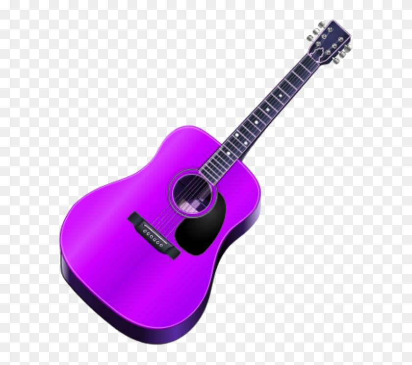 Acoustic Guitar Clipart Png Full Hd Purple Guitar Clip Art Transparent Png 19866 Pikpng