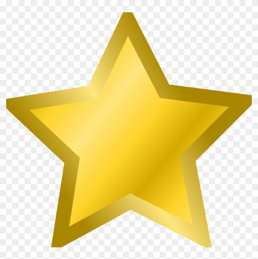 Clip Art Freeuse Stock Gold Star Clipart - Gold Star Clipart - Png Download #19955