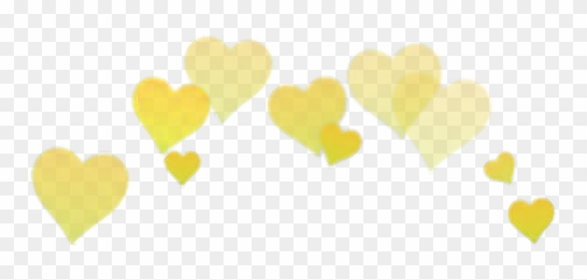 Yellow Sticker - Heart Png Aesthetic Clipart #100621