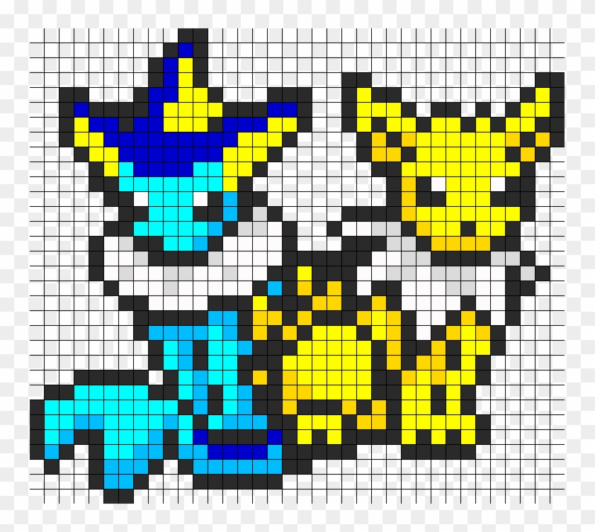 Jolteon And Vaporeon Perler Bead Pattern Bead Sprite