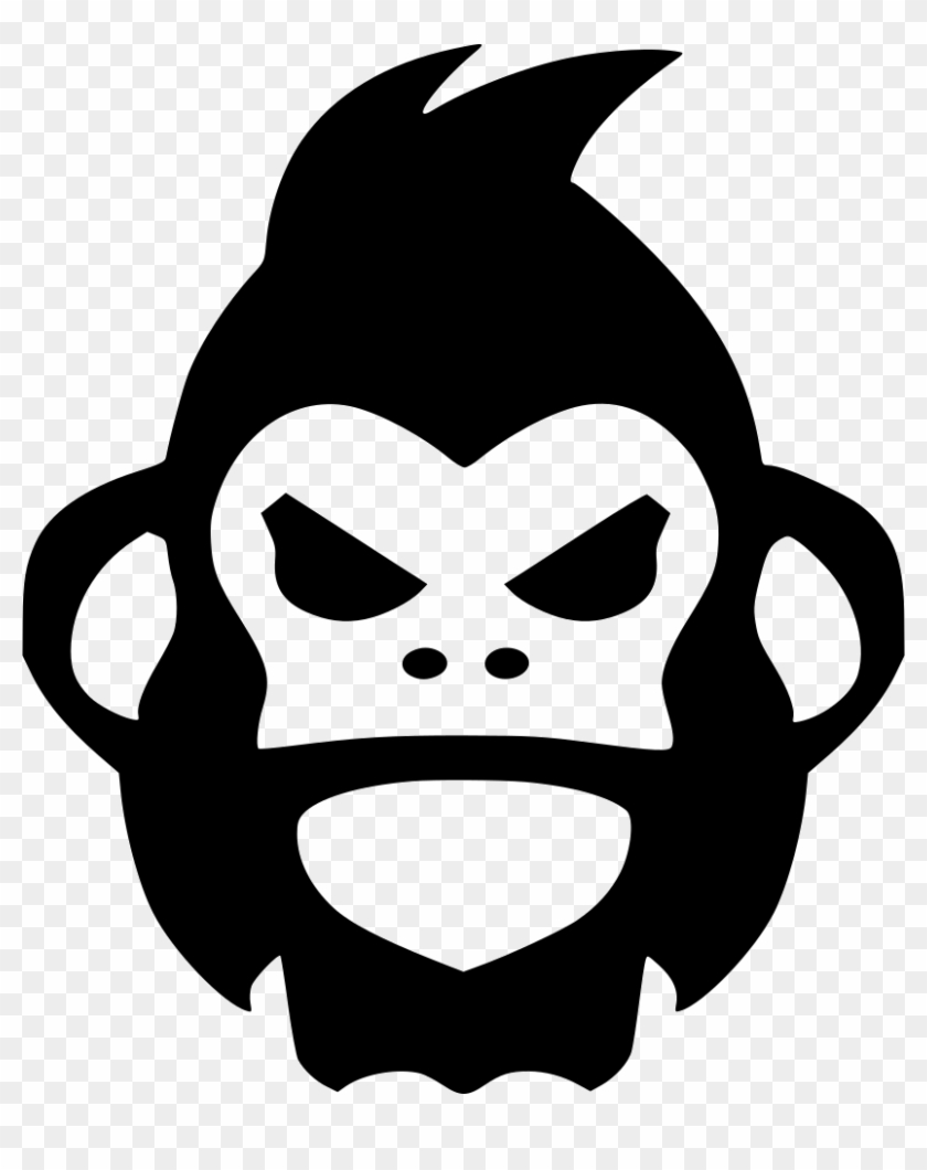 The Best Monkey Face Cartoon Black And White PNG