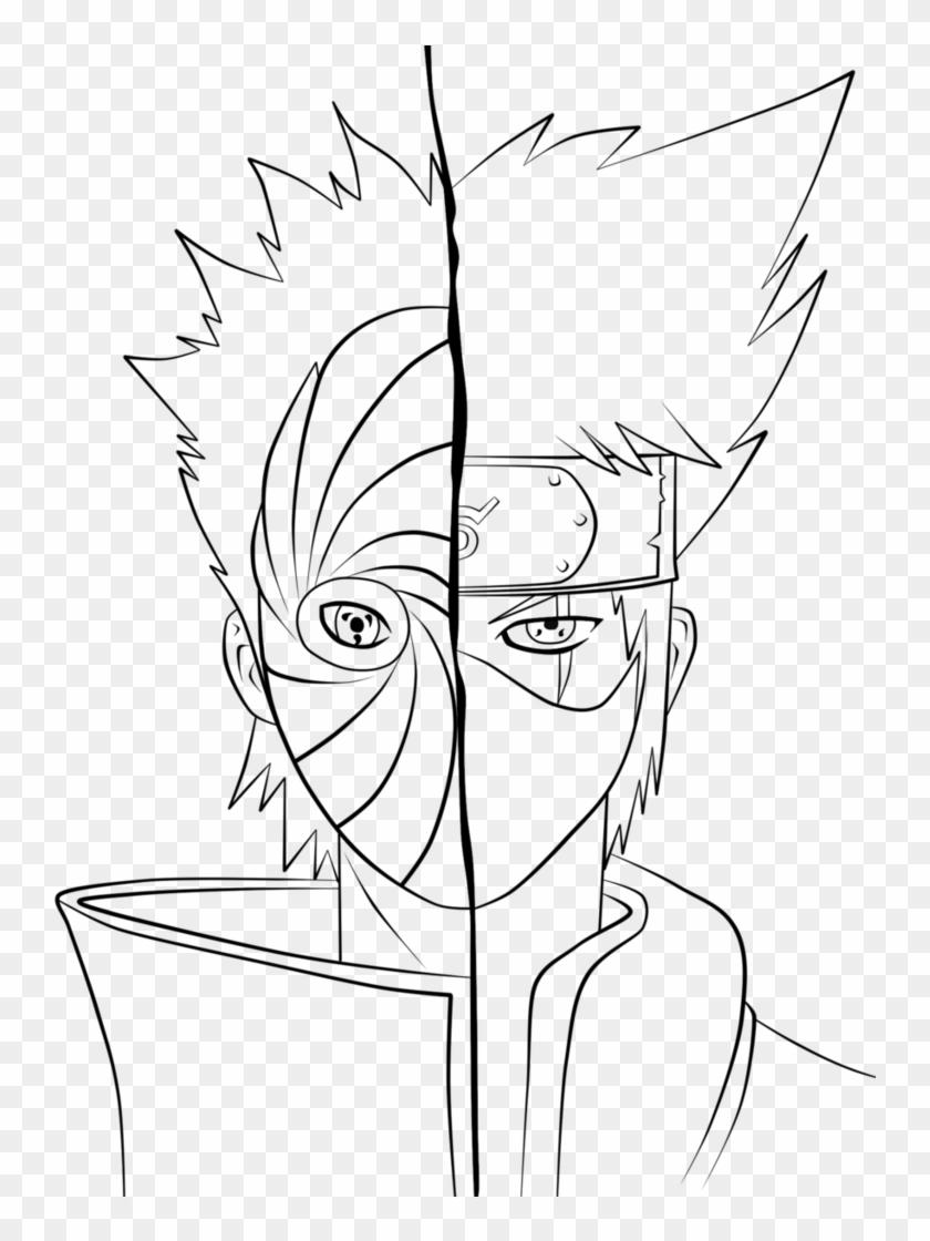 Kakashi And Tobi Coloring Pages