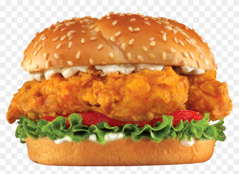 Burger And Sandwich Png Image - Chicken Tender Sandwich Carl's Jr Clipart #1006136