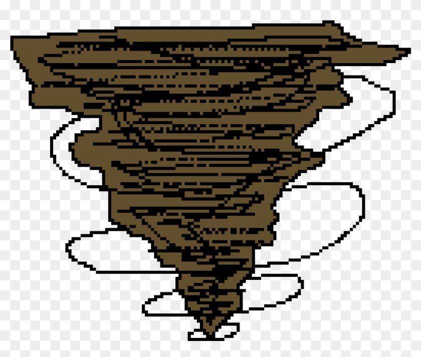 Drawn Tornado Pixel Tornado Pixel Art Hd Png Download