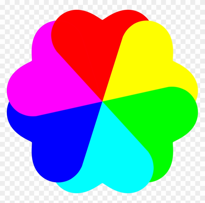 Coloring Book Computer Icons Rainbow Heart - Clipart Picture Of Colours - Png Download #1010598