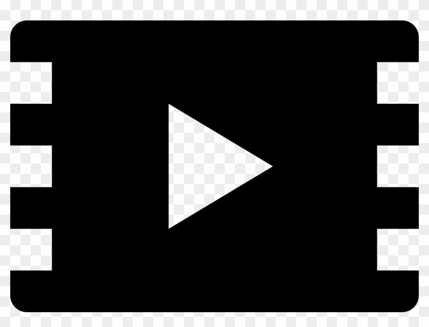 Play Button On Film Strip Comments - Graphic Design Clipart #1012963