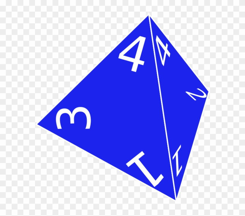Dice Clipart Four - 4 Sided Die Transparent - Png Download@pikpng.com
