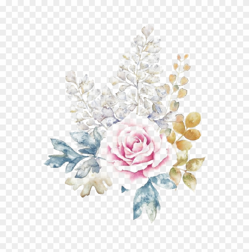 Watercolor Flowers Png Download Image - Free Watercolor Rose Background Clipart #1027574