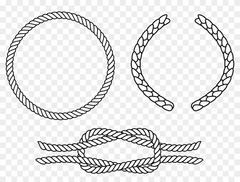 Rope Circle Png - Black And White Rope Vector Png Clipart@pikpng.com