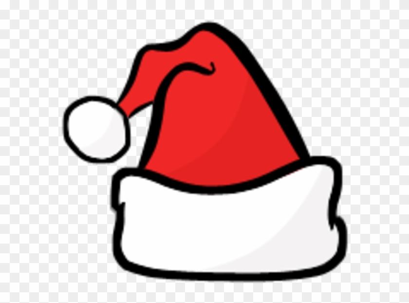 Santa Hat Clipart Black And White - Santa Hat Svg - Png Download #1031802