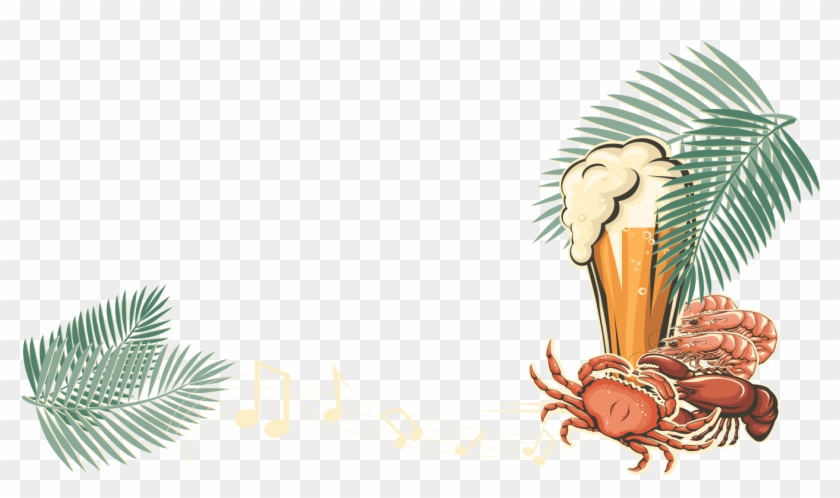 Decorative Clipart Toran - Seafood And Music - Png Download #1032793