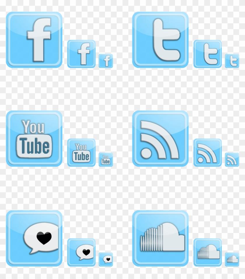 Social Media Icon Set - Youtube Clipart #1037455
