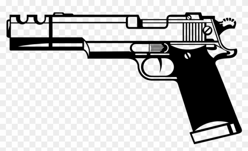 Svg Library Stock Svg Gun Hand - Gun Clipart Black And White - Png Download #1043666