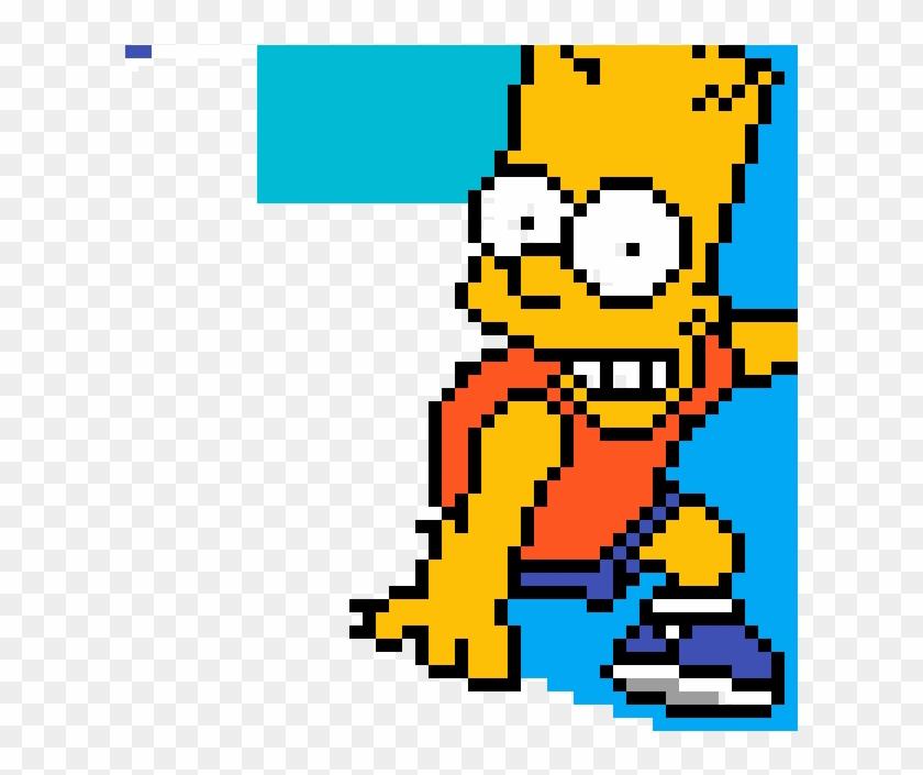 Bart Simpson Bart Simpson Pixel Art Hd Png Download