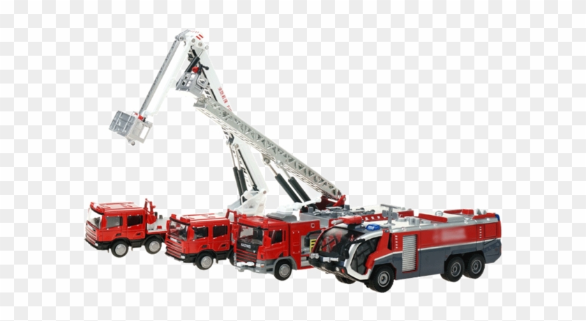 Kaidiwei Water Tank Ladder Ascends 119 Fire Truck Toy - Fire Apparatus Clipart #1047362