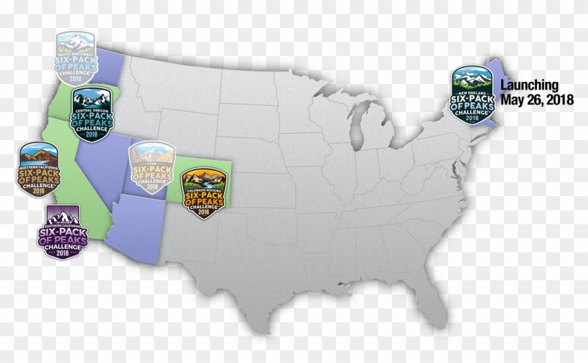 United States Map Six-pack Challenges - Us Average Snow Depth Map Clipart #1054510