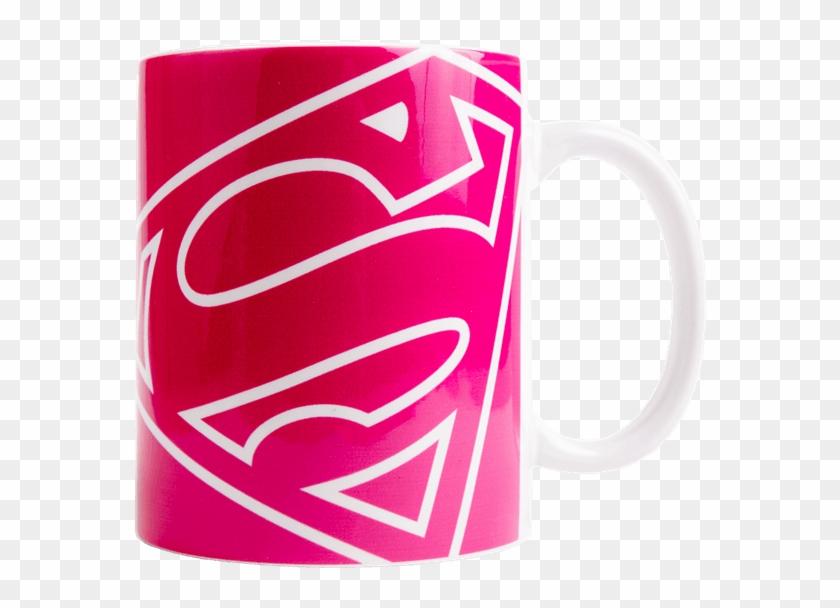 Supergirl Pink Logo Mug - Mug Clipart #1059043