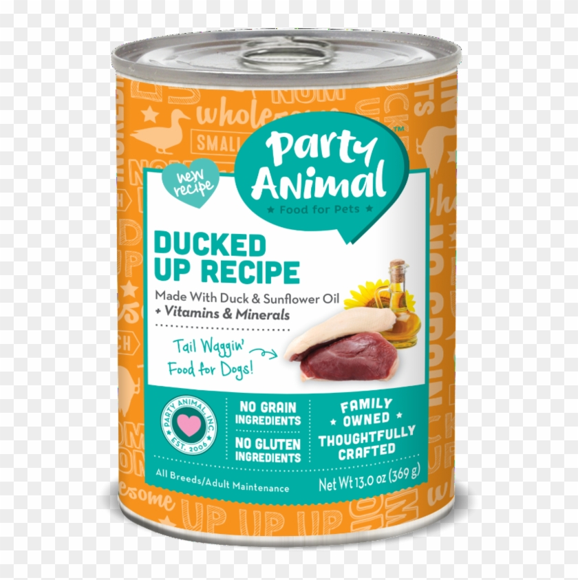 Party Animal Grain Free Ducked Up Recipe Canned Dog - Party Animal Clipart #1060862