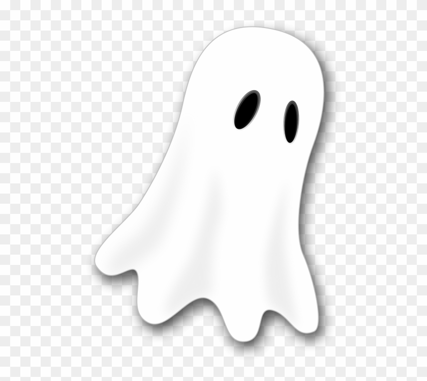 Halloween Ghost 2 Clipart Vector Clip Art Online Cartoon Ghost Black Background Png Download 1063302 Pikpng