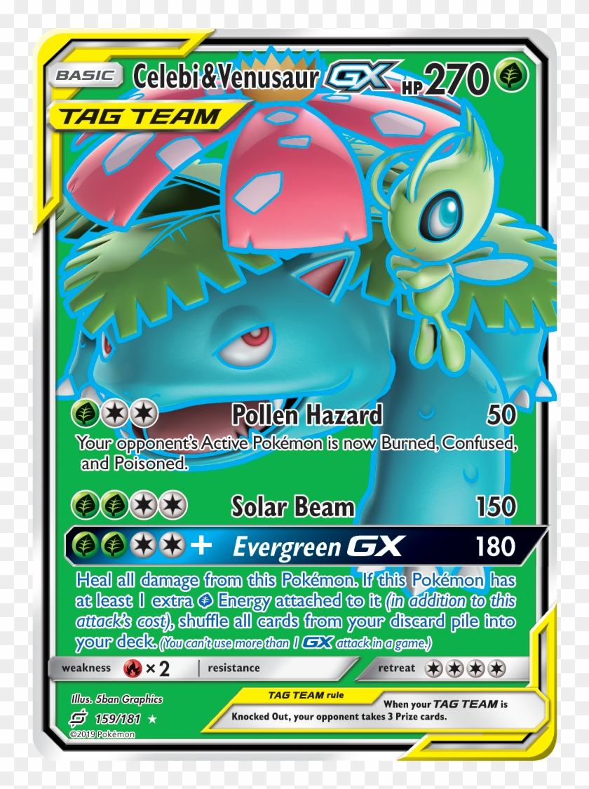 Charizard Pairs With Fire-type Legendary For Powerful - Celebi And Venusaur Tag Team Clipart #1063656