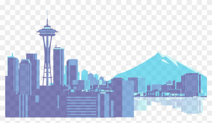 Seattle Skyline Icon - Space Needle Seattle Clip - Png Download #1066290