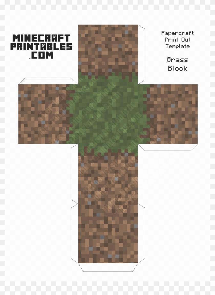 Papercraft Minecraft Dirt Block Clipart #1066658