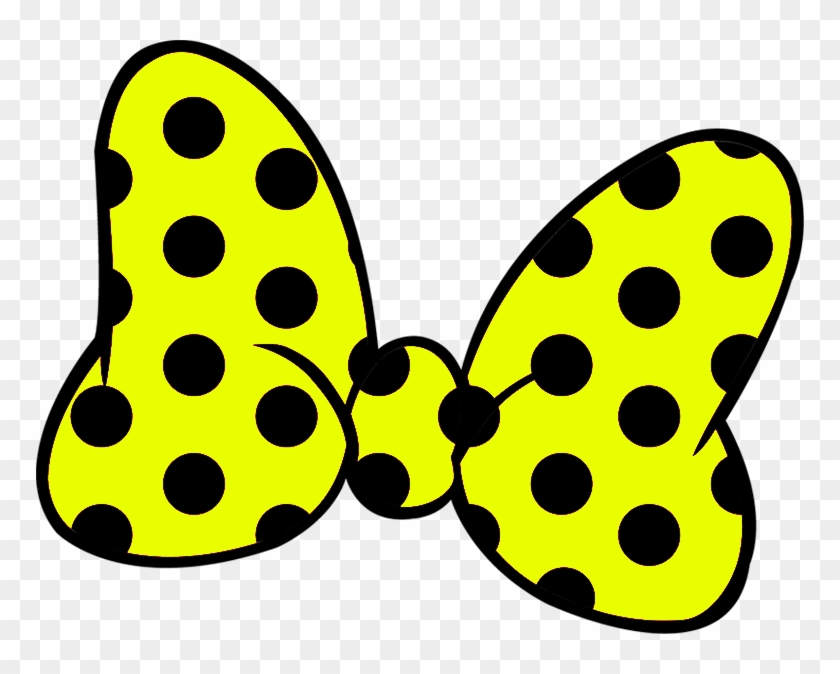 Minnie Bow Png - Minnie Mouse Yellow Bow Clipart #1066810