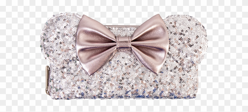 Minnie Ears & Bow Sequin Silver Loungefly Wallet - Formal Wear Clipart #1066999