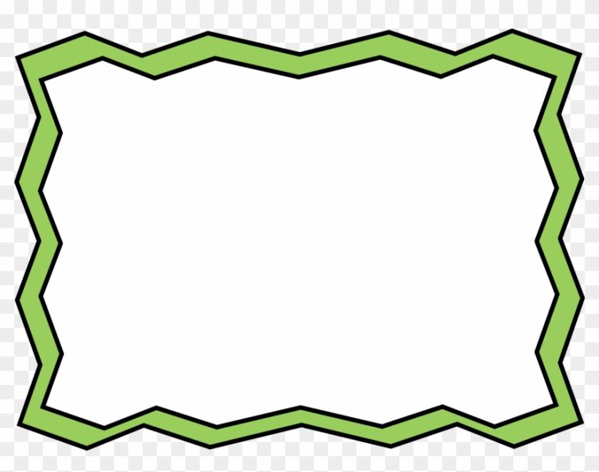 Green Frame Clipart - Green Zig Zag Border - Png Download #1067678