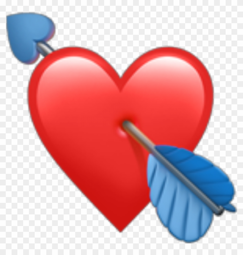 Red Emoji Heart Redheart Cupidon Redemoji Arrow Heartan Clipart #1068617