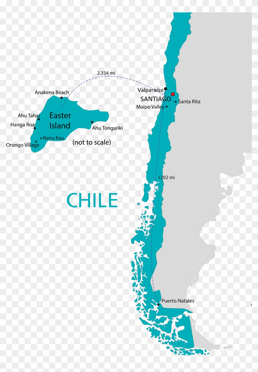 Map Of Chile South America Zoomed The Fund For American - Chile South America Clipart #1069797