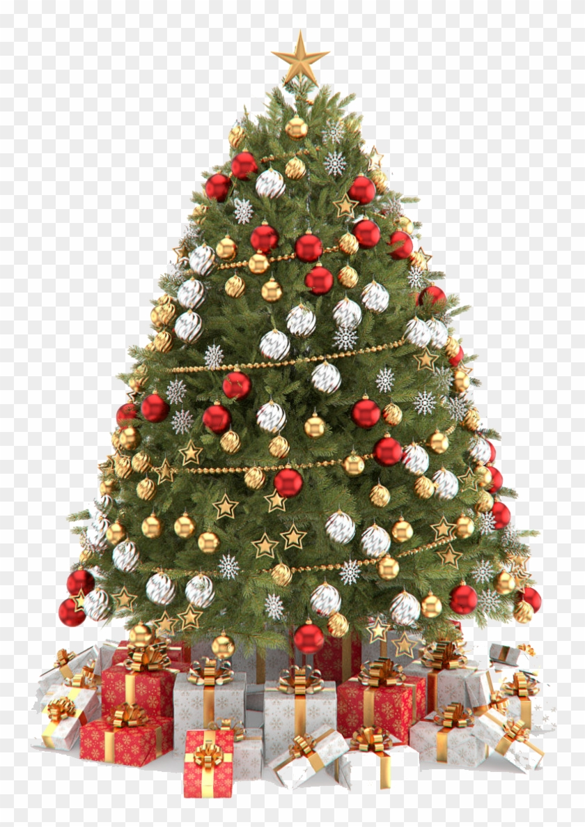 Christmas Tree - Transparent Background Christmas Tree Png Clipart #1071114