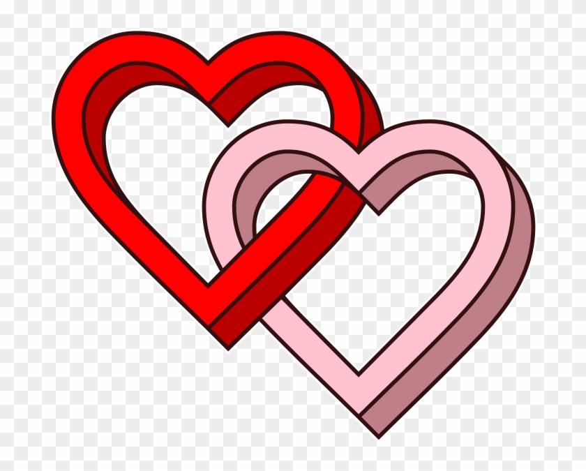 Interlaced Love Hearts-3d - Love Hearts Clipart #1079500