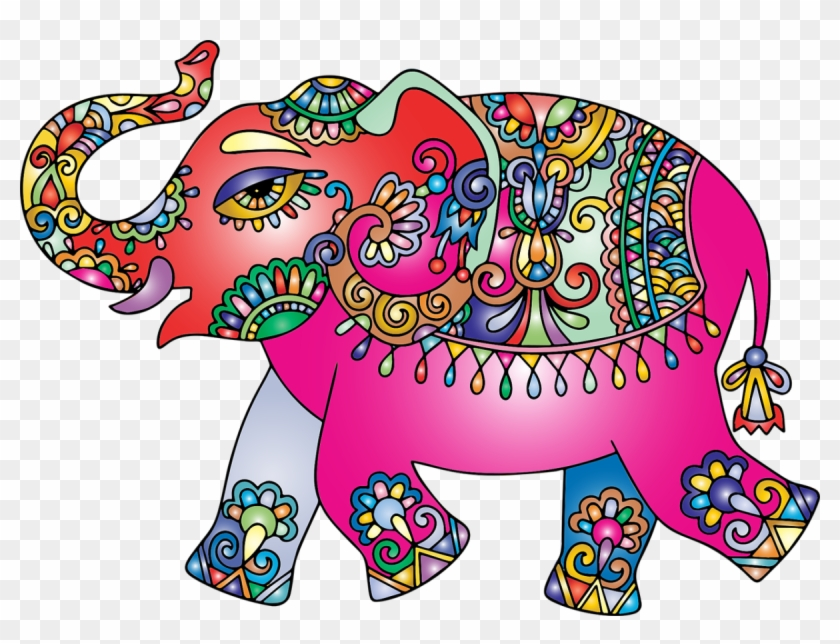 Colorful Cartoon Indian Elephant Clipart 1081070 Pikpng Polish your personal project or design with these elephant transparent png images, make it even more. colorful cartoon indian elephant