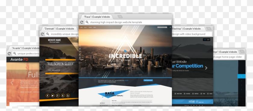 Premium Professional Website Templates - Website Themes Clipart #1082934