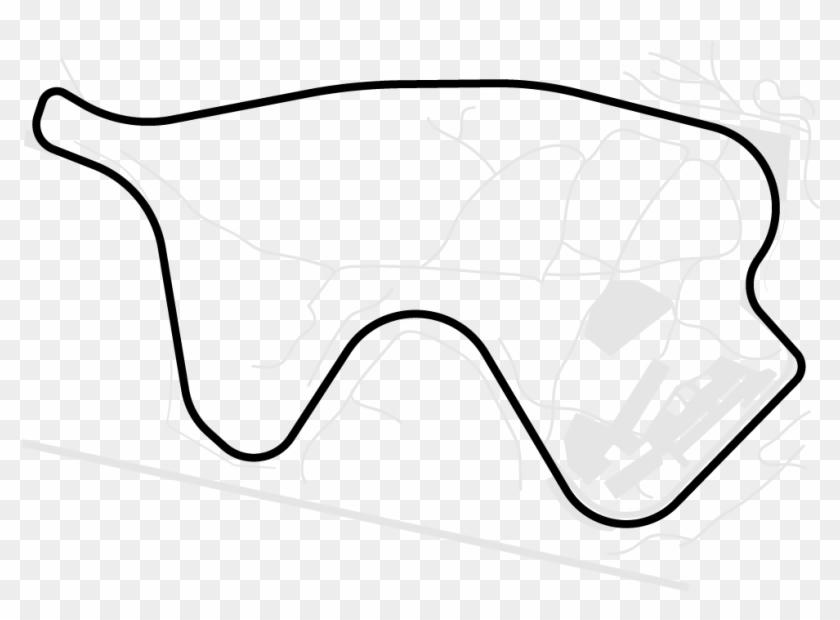 Canadian Tire Motorsport Park - Line Art Clipart #1084610