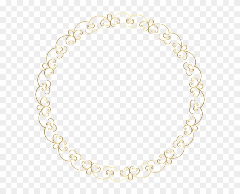 Round Gold Border Frame Png Clip Art Image - Gold Round Border Transparent Background #1086300