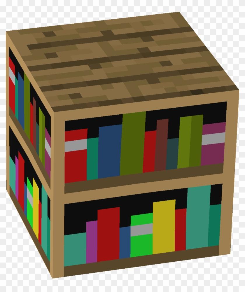 Bookcase Minecraft In Home   Minecraft Bookshelf Png Clipart ...