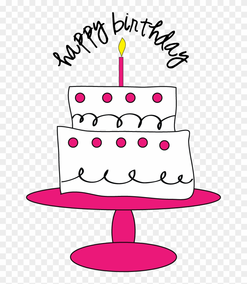 Clip Royalty Free Download Free Birthday Cake Clipart - Cute Birthday Clipart Free - Png Download #117299