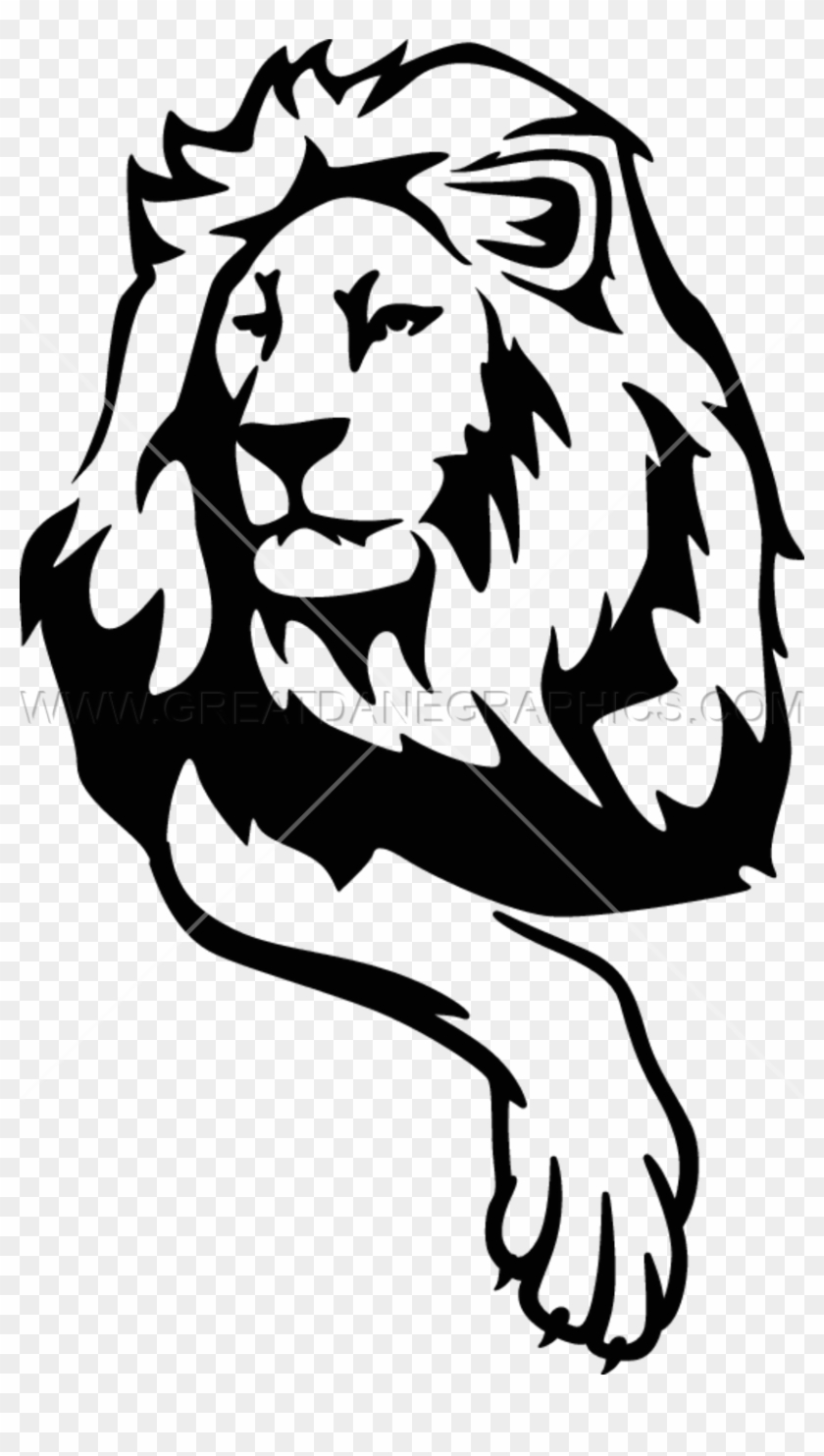 White Lion Clipart Png Full Hd - Lion Png Black White Transparent Png #118742
